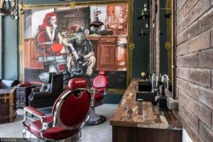 barberskie inspiracje - obraz na podstawie fotografii na ścianie zakładu